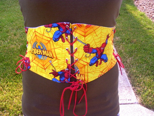 kaylaconspiracyetsy:  Spider-Man Cincher Get it here! Visit the shop.