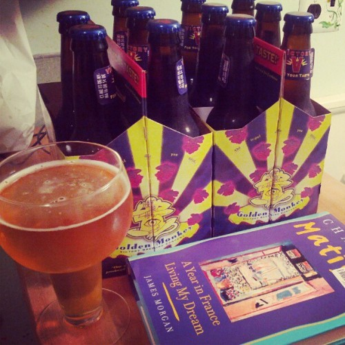 No internet & TV till morning = #beer & #books  (Taken with instagram)