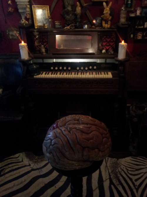 Giant brain playing the organ!