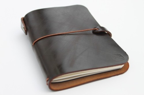 pocket size moleskine leather cover by zenokleather