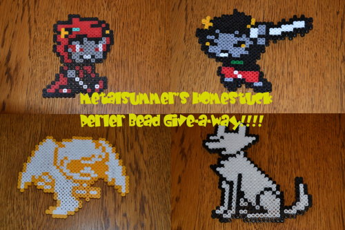 Now that I hit 50 followers I've decided to have a giveway of my perler beads!   Ok so here are the rules: I will have 3 winners, each will get to choose one troll or one beta kid. Although first place will get something extra. You don't have to be following me, but it would be nice. You may reblog as much as you like, but please limit it to twice a day so you don't overwhelm your followers.  Like count as well. I will ship anywhere, so it is open world wide! i'll be picking through a random number generator. The contest will be open to June 12th (see what I did there.) Any question feel free to send me an ask.  Good Luck!!!!!
