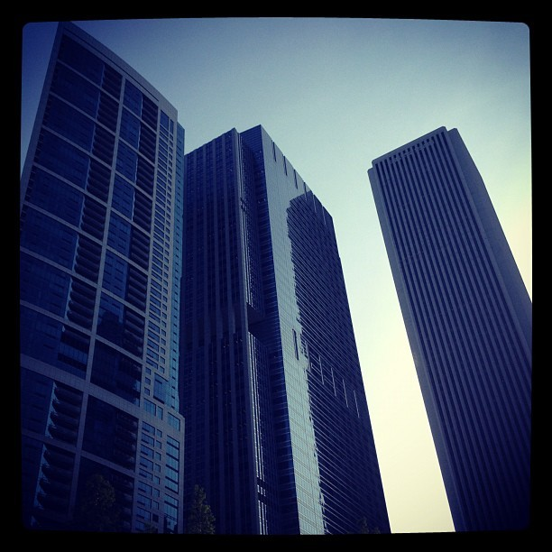 BCBS, Aon. #chicago #architecture #chitecture #skyscraper  (Taken with instagram)