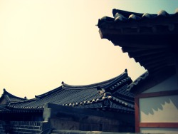 Hanok Maul(The village of Korean traditional houses) photo by me Jeonju, South Korea