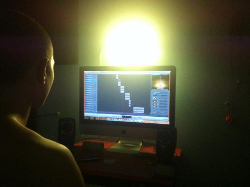Mixing one the mixtape`s song!!