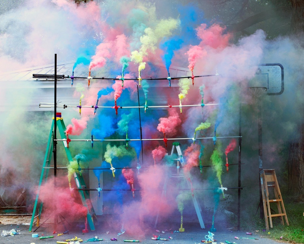 Oh my gosh, does this make you really happy?? Olaf Breuning, Smoke Bombs 2, 2011