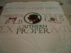 Αdorable AΧΩ banner for Sigma Chi Derby Days!