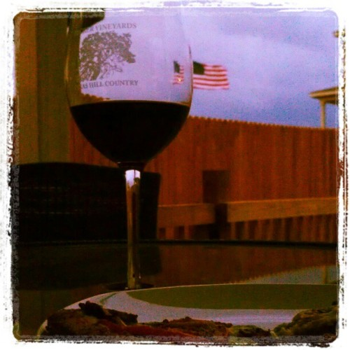 Wine, pizza and lightening.  (Taken with instagram)