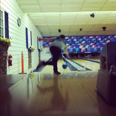 stowedaway:  bowling with @mattbrasch. he's too good! (Taken with Instagram at Facenda Whitaker Lanes)
