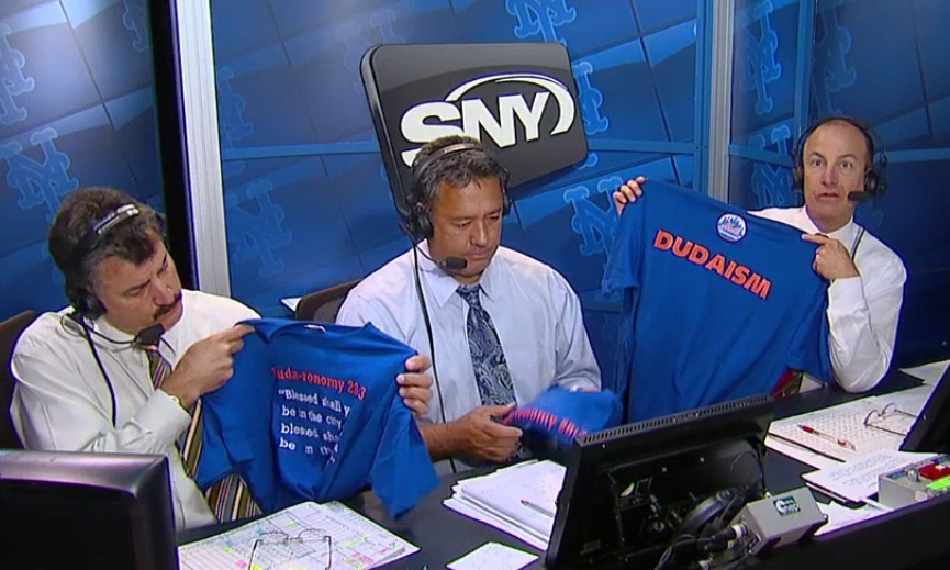 "sportsnetny:  T-Shirt Tuesday tomorrow at Citi Field  Would totally wear a shirt that said ""Dudaism."""