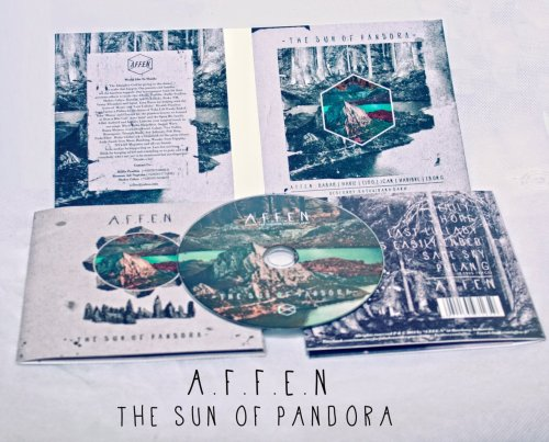"""The Sun Of Pandora"" AlbumA.F.F.E.N - 2012 Released By A.F.F.E.NIDR 25kAvailable now!How To order : Name, Full Address , Phone Number, Quantity, Email to : affen.merch@hotmail.com / 081931369407 / 3091CDEA ( Shakty ) or Just Come to : Jl. Terusan Sidomukti No. T-10 , Sukaluyu , Bandung"