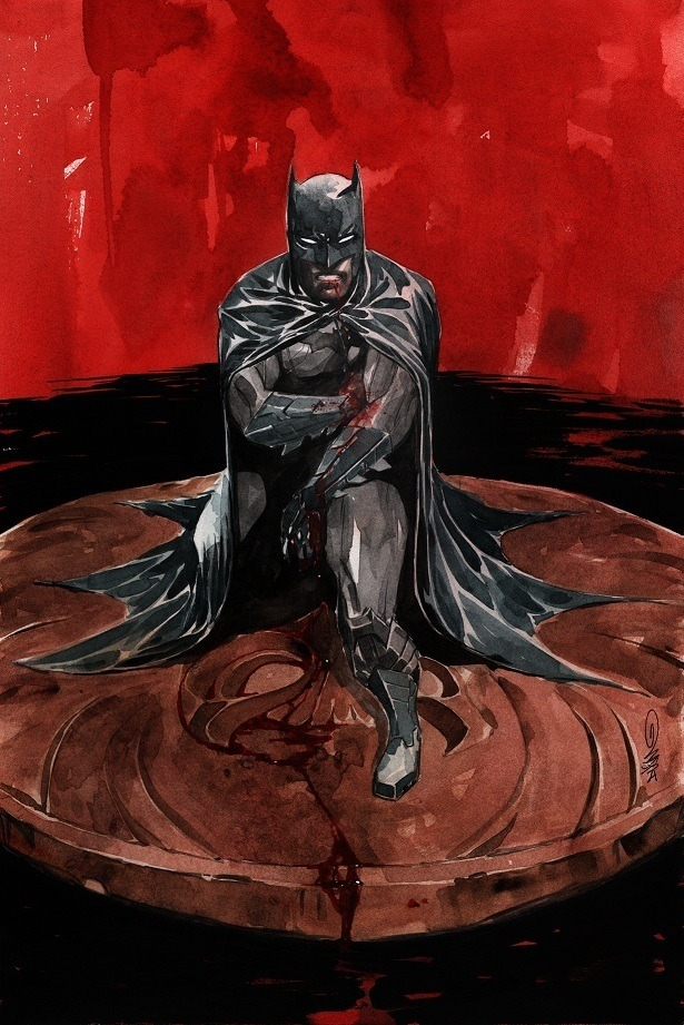 "xombiedirge:  Batman #7 Variant Cover by Dustin Nguyen / Webiste / Tumblr 11"" X 17"" Original painting currently on ebay with 48hrs remaining for bids, HERE. The auction also includes a signed copy of the comic, plus an original bust commission of the buyer's choosing."