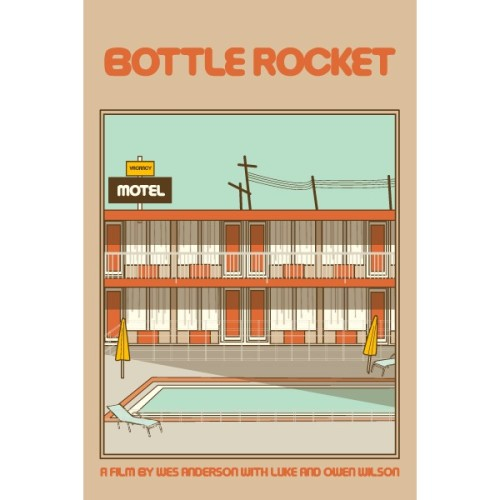 kellydeal:  Bottle Rocket Print 16x24   All of these movie posters are stupendous. Other faves are Stand by Me, Rear Window, Goodfellas and 2001: A Space Odyssey.
