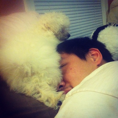 LOL benji's on Chris's face.  (Taken with instagram)