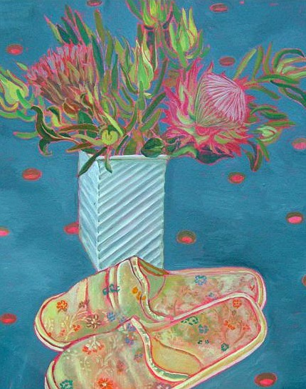 Melissa Becker Silk Slippers & Proteas 2010