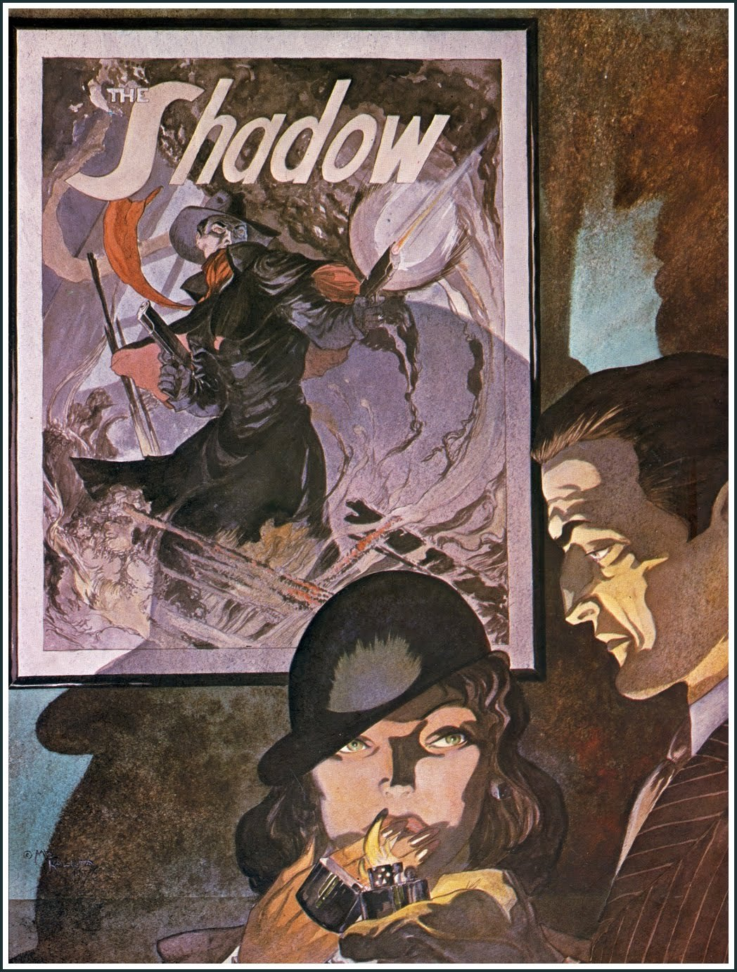 Mike Kaluta:The Shadow (1976) (via: Golden Age Comic Book Stories )