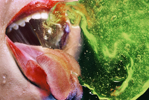 Chewing Green by Marilyn Minter