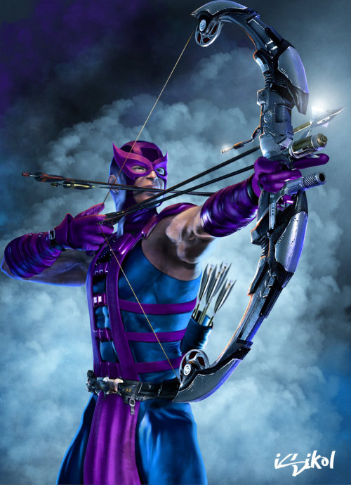 assorted-goodness:  HAWKEYE - by Isikol