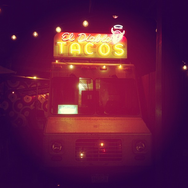 Hit me with that taco @milimarcetic  (Taken with Instagram at El Diablo Tacos)