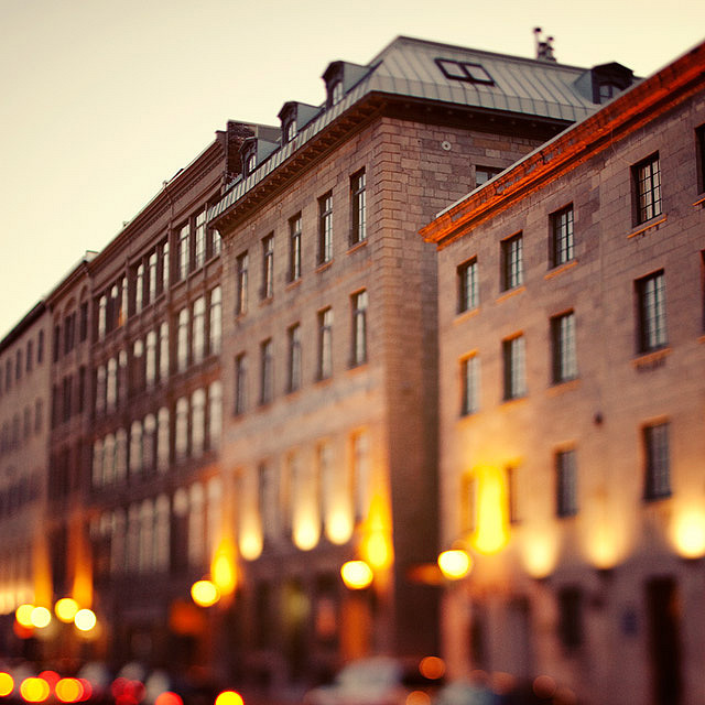 | ♕ |  Vieux Montreal at dusk  | by © Irene Suchocki | via ysvoice