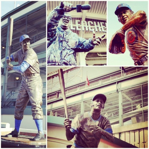 While you're at Wrigley Field, don't forget to check out the statues of Cubs legends Ernie Banks, Harry Caray, Billy Williams and Ron Santo.