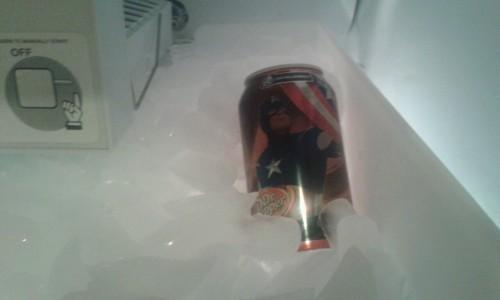 My dad put some Dr. Pepper in the freezer to chill it. Brbcrying.