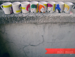 hand-painted mini mugs