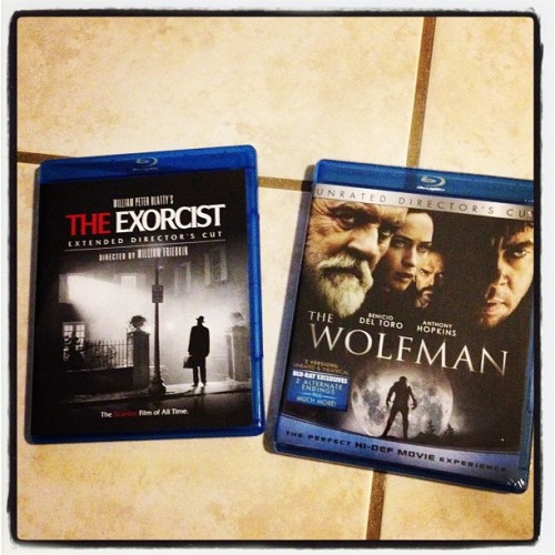 I bought this for the collection! #TheExorcist and #Wolfman on Blu Ray #classic #goodfilms #movies #horror  (Taken with instagram)