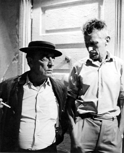 awesomepeoplehangingouttogether:  Buster Keaton and Samuel Beckett