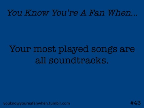 I sadly don't know a lot of current music because I listen to my soundtracks instead of the radio…