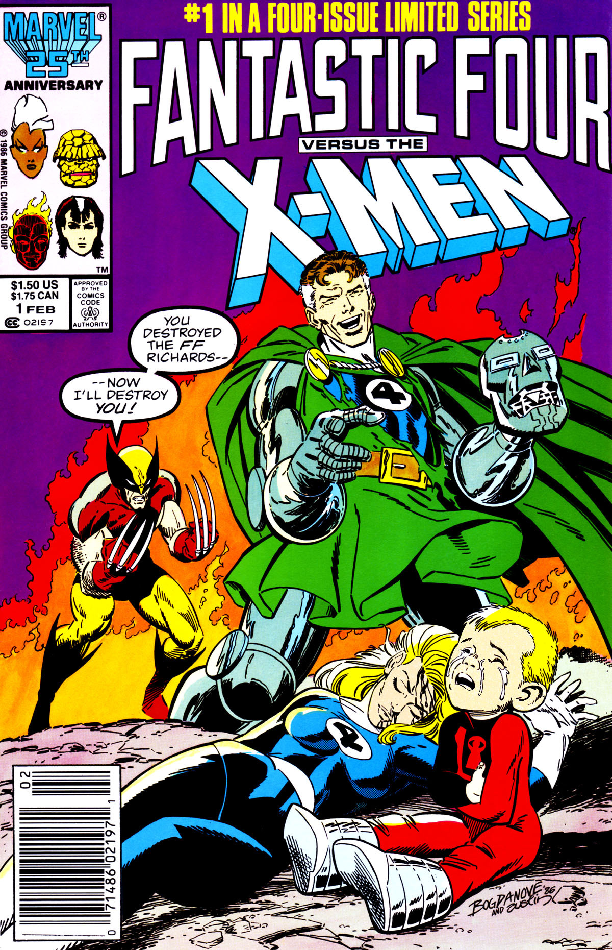 comicbookcovers:  Fantastic Four Vs. The X-Men #1, February 1987, cover by Jon Bogdanove and Terry Austin  This was one of my favorite covers!