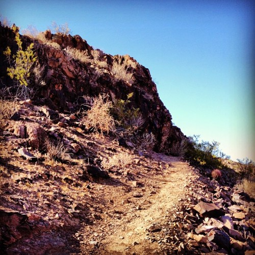 Coming up around the #bend. #arizona #phoenix #mountain #hike #instagramaz (Taken with Instagram at Lookout Mountain)