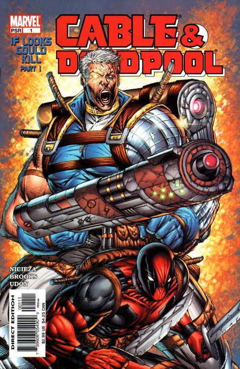 comicbookcovers:  Cable/Deadpool #1, May 2004, cover by Rob Liefeld