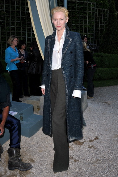 Tilda at Palace of Versailles for Chanel cruise 2013 collection