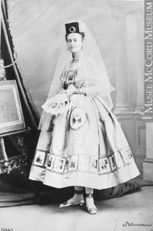 "Miss Stevenson, as ""Photography"", Montréal, QC, 1865 by William Notman.  Image © McCord Museum. from here, and found via Kate Beaton."