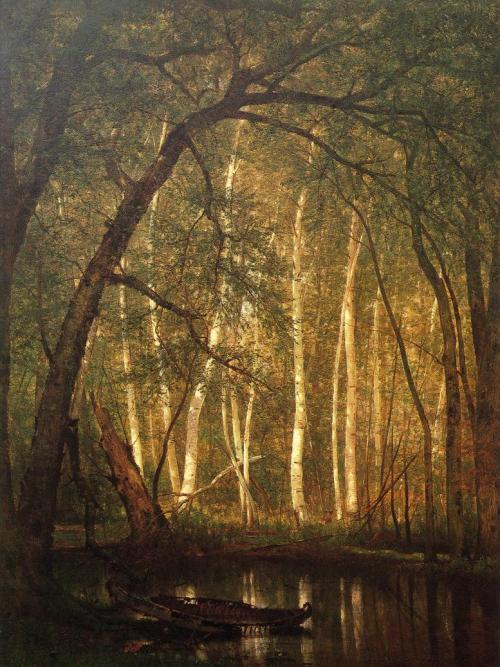 artandopinion:  The Old Hunting Ground 1864 Thomas Worthington Whittredge