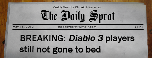 BREAKING: Diablo 3 players still not gone to bed