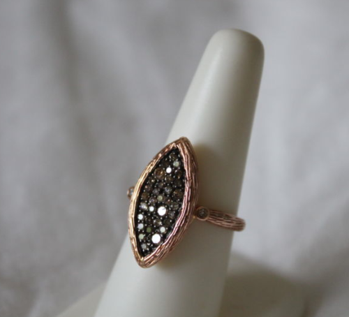 eBay find of the day: rose gold champagne diamond ring.