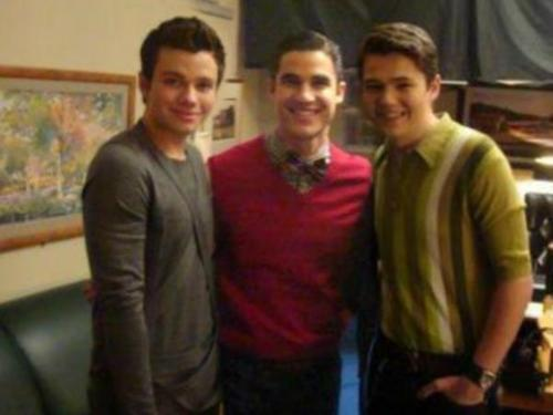 Chris Colfer, Darren Criss, and Damian McGinty