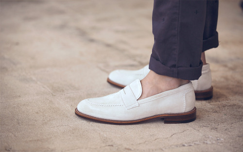 These white suede loafers by Alden (made exclusively for Need Supply Co.) will pull chicks and #menswear folk. More of the former, needless to say.