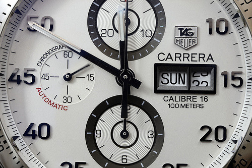 I never forget a beautiful face. Tag Heuer Carrera Automatic Chronograph.