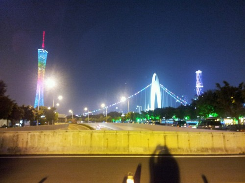 A view of the Zhujiang River, Guangzhou.