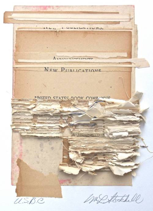workman:  lnop: Marie Stockhill, I Once was White, 2007 collage with antique papers Catalogue cover of the exhibition White on White at the International Museum of Collage Assemblage and Construction