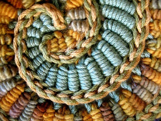 Amazing work. freeform crochet bullion spiral close-up by freeform by prudence on Flickr