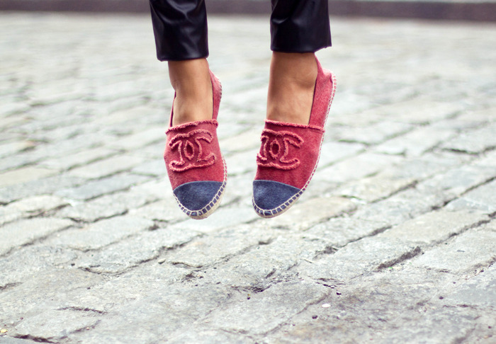 what-do-i-wear:   Chanel Espadrilles, (image: songofstyle)