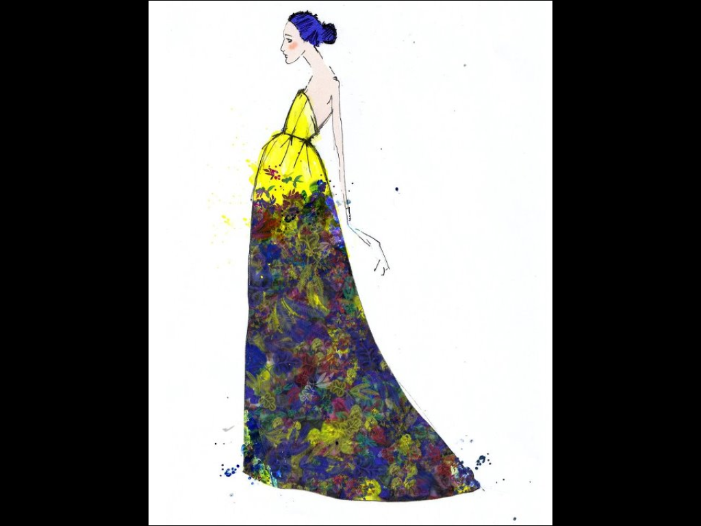 Erdem sketch for V&A