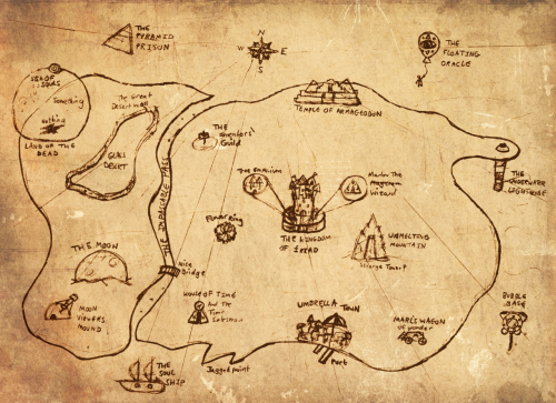 One the maps from my Live Action Role Play, hand-drawn in the ancient backwaters of time!