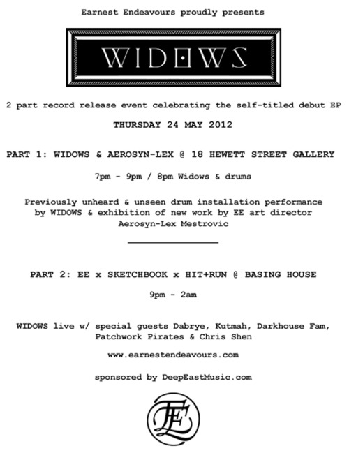 WIDOWS RELEASE PARTIES!