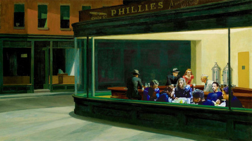 John P. Glynn | the Avengers' diner bonus scene in Edward Hopper's Nighthawks