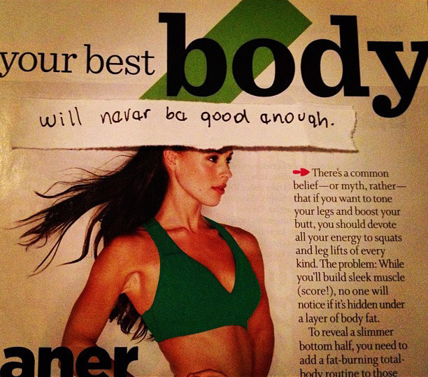 depressed copywriter re-writes ad headlines   'your best body will never be good enough'   via @Parushalewis