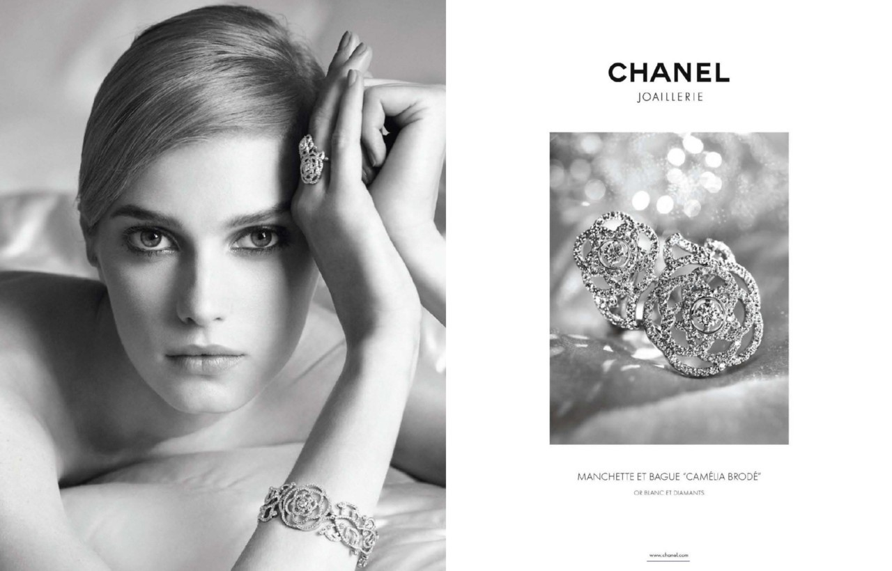"Sigrid Agren for Chanel Joaillerie ""Camélia Brodé""   Photographed by Dominique Issermann"